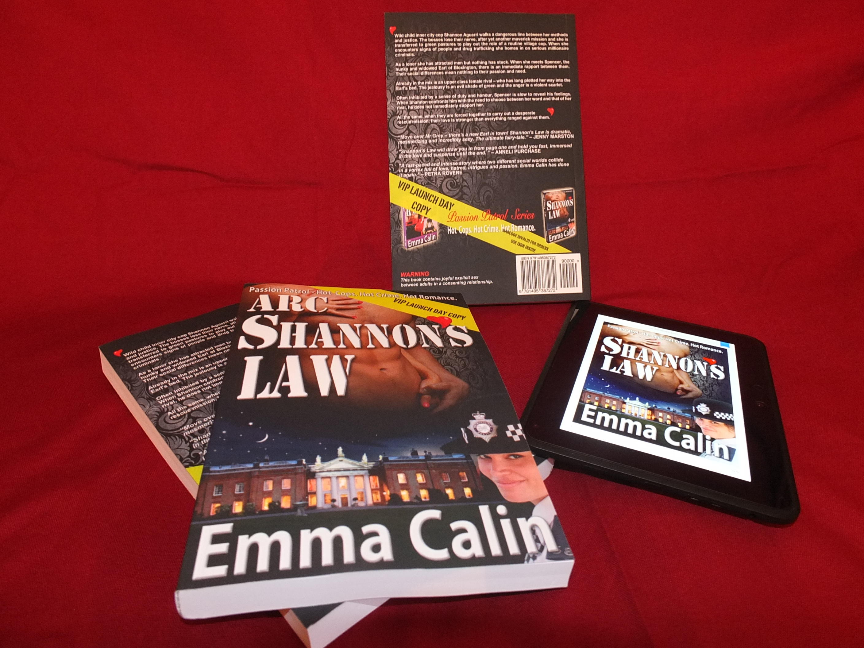 Shannon's Law back cover copy and shots
